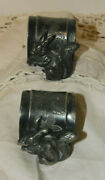 Pair Of Silver Plate Rabbit Antique Napkin Rings