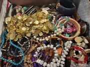 Vintage To Now Junk Drawer Jewelry Lot 16+ Pounds Craft Harvest Repair