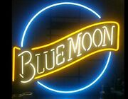 Blue Moon Boutique Decor Neon Sign Light Real Glass Room Wall Sign
