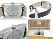 Cuervo Y Sobrinos Wristwatches Ss Leather Automatic Black Silver Boxed Manual