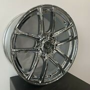 4 G38 18 Inch Chrome Rims Fits Chevy City Express 2015 - 2018