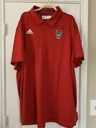 Adidas Nc State Wolfpack Menandrsquos Red Tech Polo 4xl. Nwt. Ge1763. Msrp 75