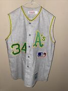 Rollie Fingers Oakland Athletics Vintage Mitchell And Ness Jersey 100 Authentic
