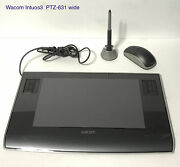 Wacom Ptz631w Intuos3 6x11 Wide Format Usb Drawing Tablet Pen Stand Mouse Best
