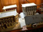 Mth Lot Of 4  Buildings. Train Store,jenny Lee, Auto Parts School, No Boxes