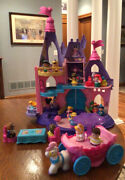 Fisher Price Little People Musical Princess Castle 20 Disney Figures W/ Carriage