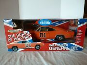 New Ertl American Muscle 1/18 General Lee Dodge Charger And 1/64 Diecast Set