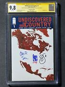 Undiscovered Country 1 Nycc Foil Cgc Ss 9.8 Signed By Snyder, Soule And Camuncoli