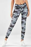 Bnwt Fabletics X-small 6 8 Leggings Salar Printed Pureluxe Yoga Nocturne Floral