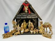 Fontanini Italy Depose 1983 22 Piece 7.5 Nativity Set W/ 22 Stable Spider