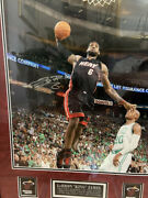Lebron James Signed And Framed Photo And Memorabilia