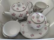 Vintage Noritake Rose Palace 5539 Fine China Snack Set - Excellent Condition
