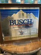 Busch Beer Mirror In A Frame, Classic Beer Advertisement