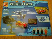 Block Tech 306 Pieces Police Force 4 Figurines Car Truck Plane Tree