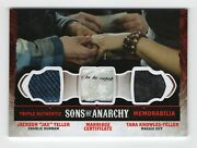Sons Of Anarchy Seasons 4 And 5 Triple Memorabilia Tm1 Marriage Certificate Card