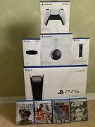 Sony Ps5 Blu-ray Edition Console - Disc Version - 4 Game Bundle+ Brand New