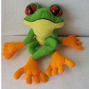 Rainforest Cafe Green Tree Frog Cha Cha Plush Toy Stuffed Animal Collectible 18