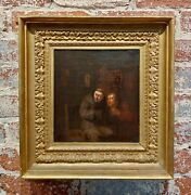 Egbert Van Heemskerck The Younger-confession To A Monk-18th C. Oil Painting