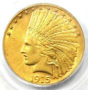 1915-s Indian Gold Eagle 10 - Certified Pcgs Genuine - Rare Date - Au Details