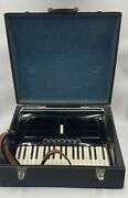 Rare Settimio Soprani Accordion Made In Italy And Carrying Case Works Great