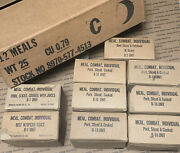 Lot Of 9 Vietnam War Us C Ration Meals W/ Accessory Packets And Case For 12 Meals
