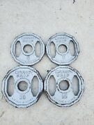 Marcy Grip 10 And 5 Lb Weight Plates Olympic Size Weights Used 10lb 5lb Lbs 2