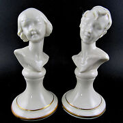 Vintage Italy Fine Porcelain Girl And Boy Figurines E43