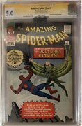 Amazing Spider-man 7 Cgc 5.0 Signed By Stan Lee 2nd Appearance Of Vulture