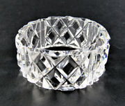 Set Of 6 Clear Crystal Glass Napkin Holder C30 2 Sets Available