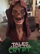 Crypt Keeper Horror Mask Latex Bust With Stand 11