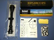 Bushnell Banner Dusk And Dawn 3-9x40 Riflescope Instructions Mounting Lens Cloth