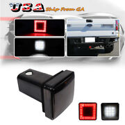 Smoked 80 Led Tow Hitch Red Driving Brake Lamp White Backup Light 4 Way Fits 2