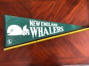 Vintage 70s Wha New England Whalers 30 Pennant Green