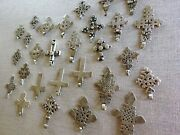 A Large And Exciting Collection Of Coptic Ethiopian Silver Crosses Antique