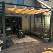 Purple Leaf 10and039 X 12and039 Outdoor Retractable Pergola With Sun Shade Canopy Patio...