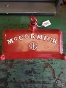 Antique Mccormick Chicago Us Cast Iron Tool Box Lid Tractor Mower Implement M539