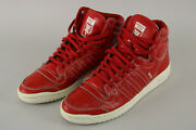 Vintage Adidas Top Ten High Top Basketball Shoes Red/white Size 12 Guc