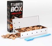 Stainless Steel Bbq Smoker Box For Grilling Barbecue Wood Chips On Gas Grill