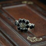 Antique Rose Gold And Black Onyx Mourning Ring C/1818 Size N 53445