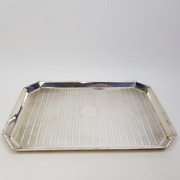 Synyer And Beddoes Birmingham Sterling Silver Serving Tray Circa 1921 34110