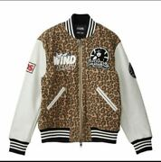 Domestic Xl Size Hysteric Glamour Wind And Sea Stadium Jumper Leopard Windancie