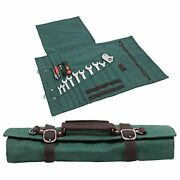 Large Tool Roll Bag Heavy Duty Waxed Canvas Wrench Tool Poucheswrench/plier/scre