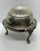 Vintage 1883 F.b. Rogers Silver Co. 273 Dome Roll Top Caviar/butter Dish Server