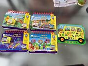 Lot Of 4 Leap Frog My First Leap Pad Game Cartridges Books Pooh , Moon + Bus