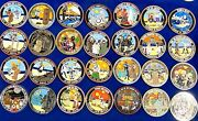 Complete Star Wars 501st Tiki Challenge Coin Lot Of 28. Vader Leia Yoda Fett Bb8