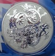 2021 Australian Dragon Chinese Myths And Legends Bu Coin .9999 Fine Silver