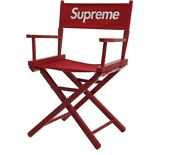 Supreme Directors Chair Red Ss19 100 Authentic Rare New Box Logo