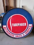 48 Double Sided Porcelain Studebaker Authorized Sales And Service Sign
