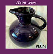 Fiestaware Large Carafe In Plum Retired Discontinued 60 Oz.