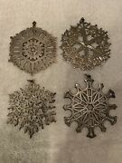 4 Mma Museum Art 1972-1978 Christmas Silver Ornaments 1 Sterling, 3 Plated